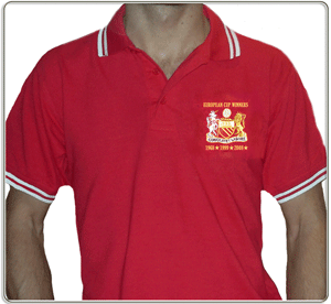 Image of European Cup 3 wins/dates Red Polo Shirt