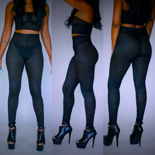 Image of Net high waist legging 2pc