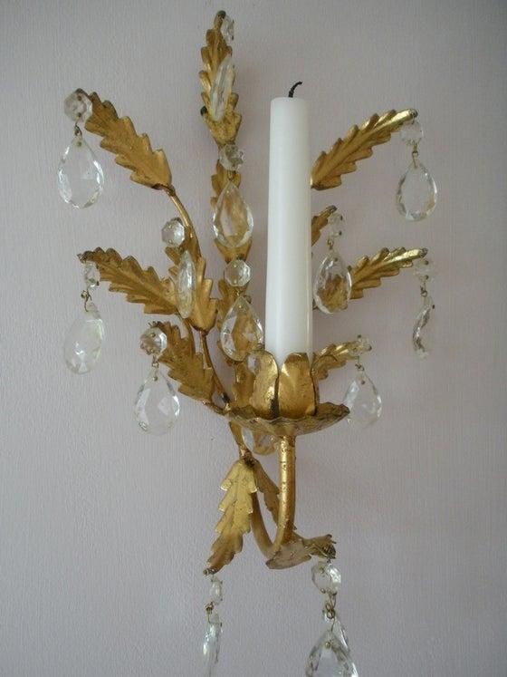 Image of Gold Leaf Sconce