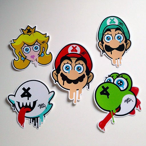 Image of Mario Bros Stickers