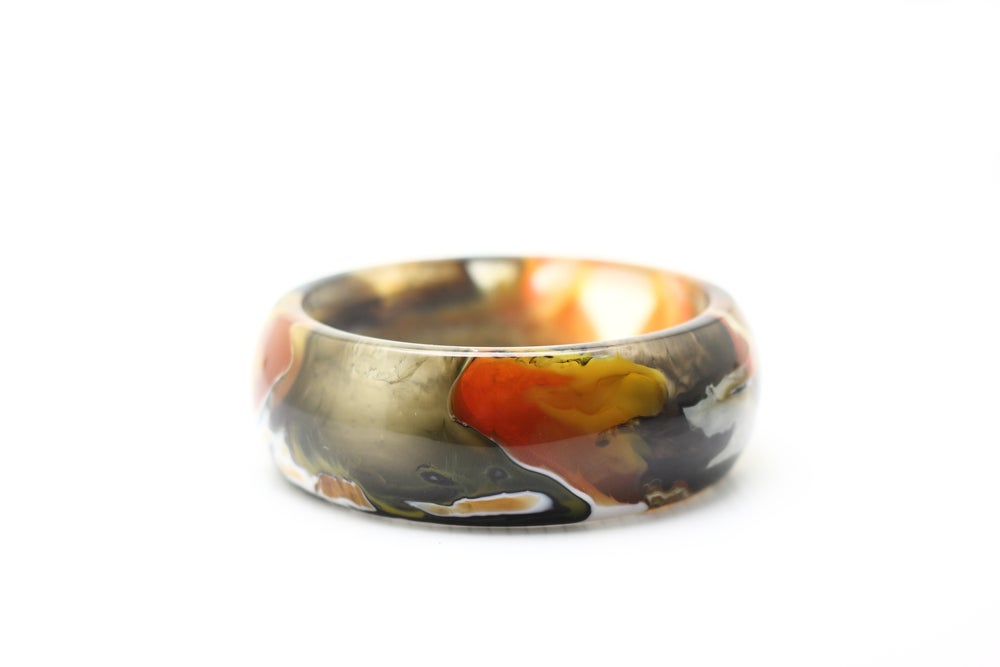 Image of Leopard Toned Curved Bangle