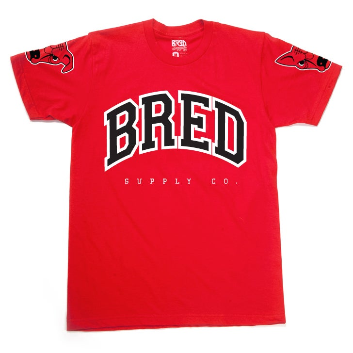 "Image of ""Raging BRED"" T - Red"