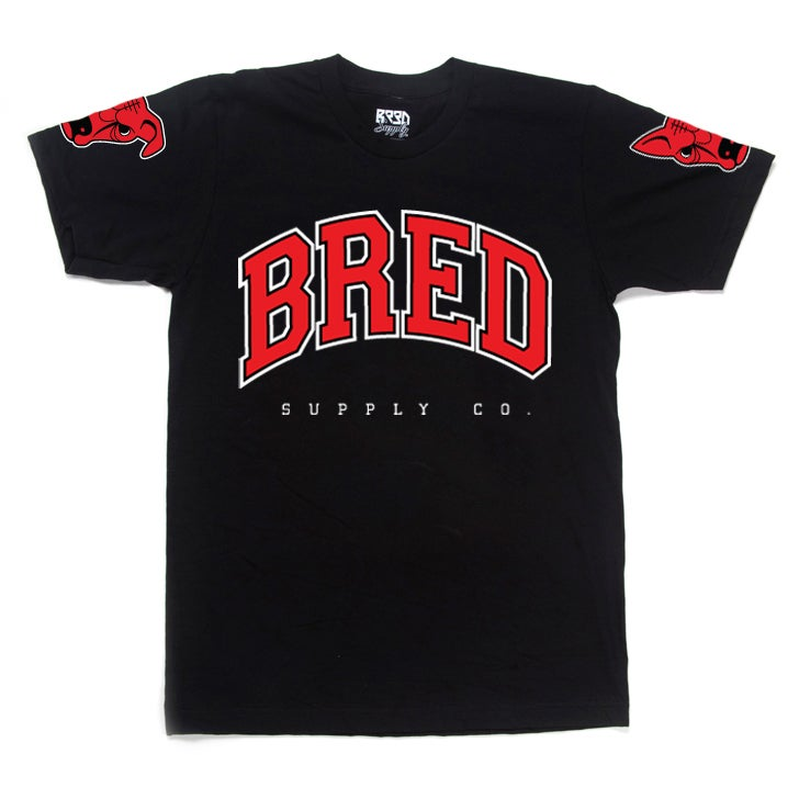 "Image of ""Raging BRED"" T - Black"