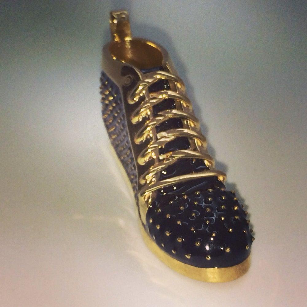 Image of Enamel Red Bottom Sneaker Pendant