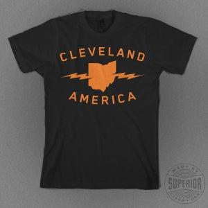 "Image of ""Cleveland America"" Black T-Shirt"