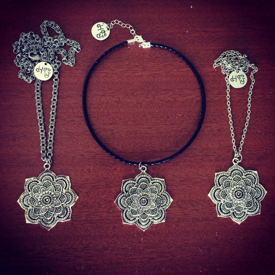 Image of HG statement mandala necklace & choker