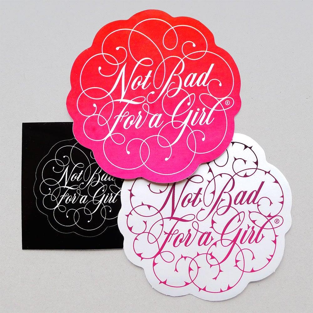 Image of Rose Script Stickers