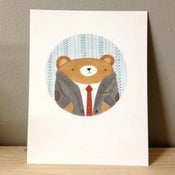Image of bear portrait #1 postcard
