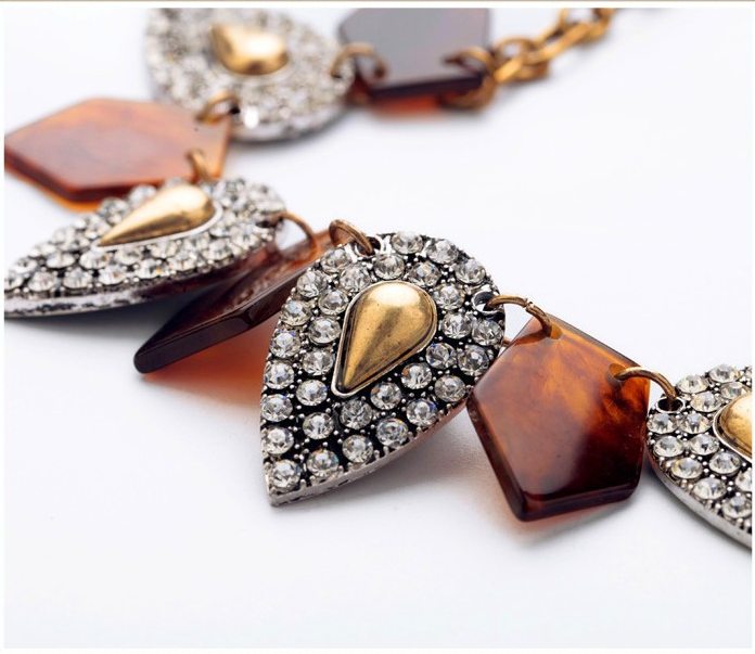Image of Tortoise + Crystal Sphere Statement Necklace