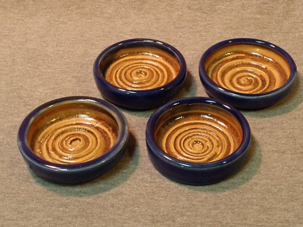 Image of Dipping Dishes, Royal/Brown, set of 4