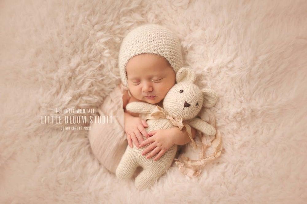 Image of {Linen gauze} Newborn Wrap & headband Set