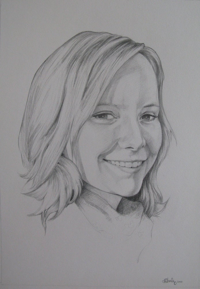Image of Custom Portrait - Graphite Drawing