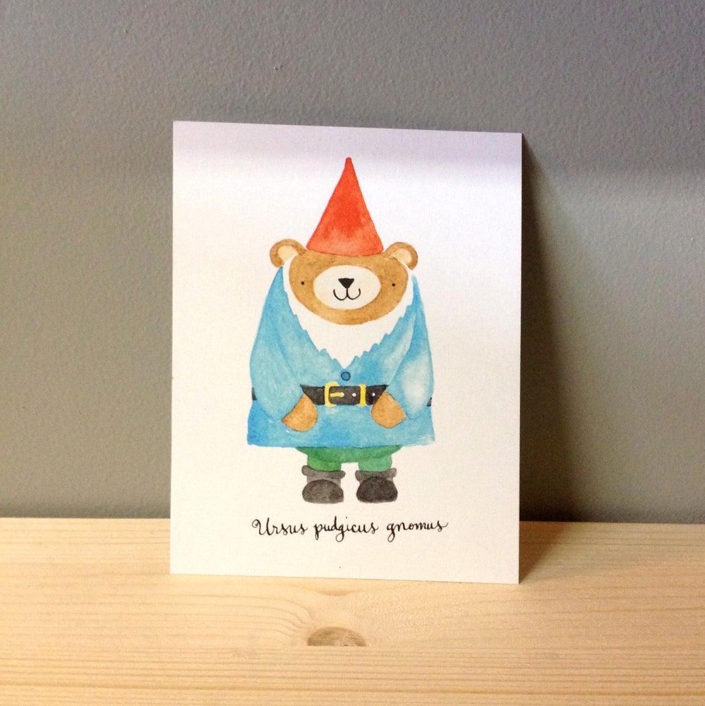 Image of pudgy bear gnome postcards