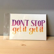 Image of don't stop postcard/mini-print