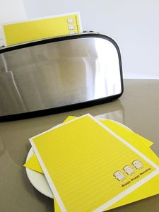 Image of buttercup toast stationery set