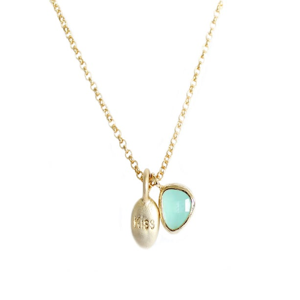 "Collier fantaisie ""Kiss"" Aquamarine"