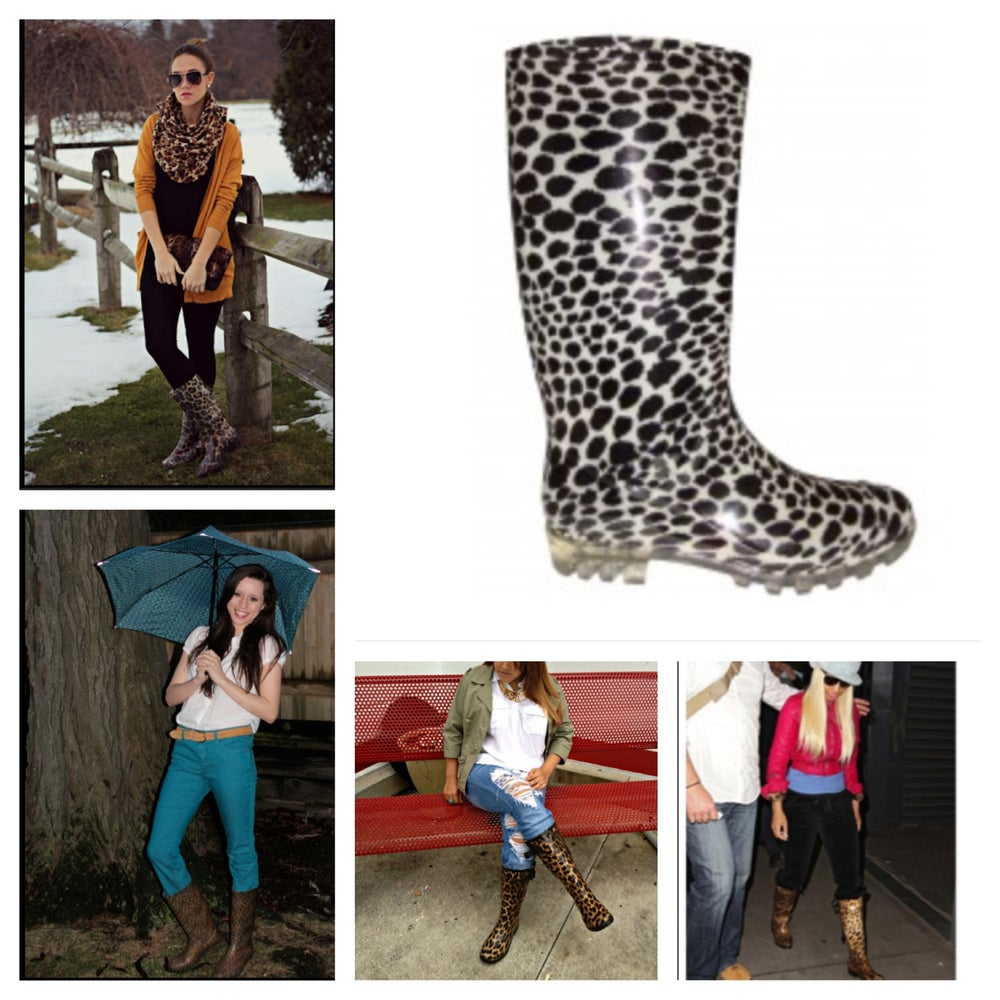 Image of Leopard Rain Boots