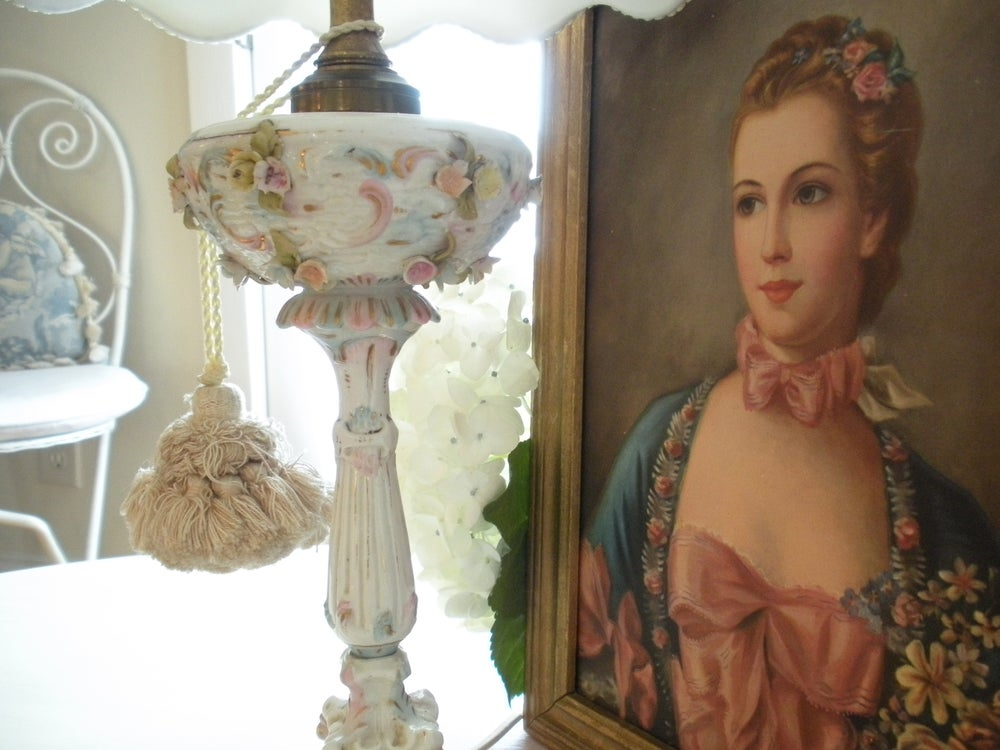 Image of French Porcelain Lamp