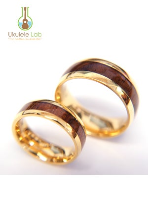 Image of Koa Inlay Rings