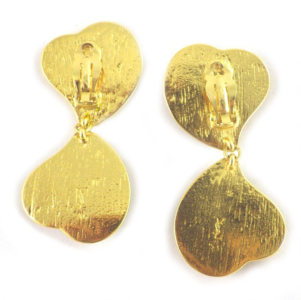 Image of SOLD OUT YVES SAINT LAURENT POURED GLASS GRIPOIX SIGNEDEARRINGS