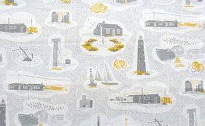 Image of Dungeness Linen Fabric - Concrete