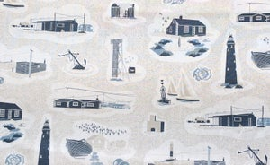 Image of Dungeness Linen Fabric - Washed Denim