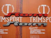 Image of Trimsport VW Corrado Storm Rear Badge - Original Size