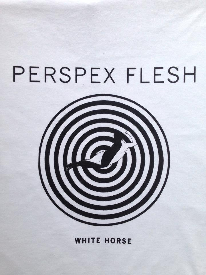 Image of PERSPEX FLESH 'WHITE HORSE' T-shirt