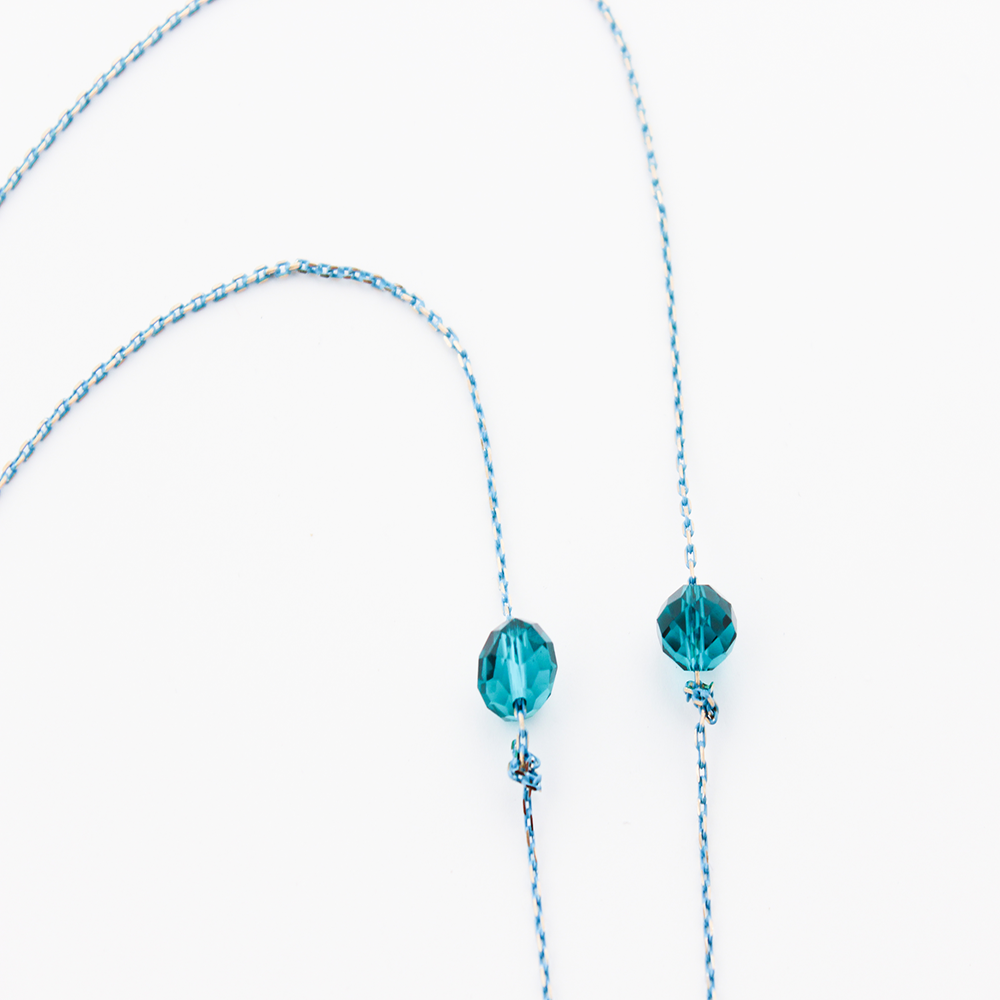 Image of AQUA BLU Earpiece Holder Necklace