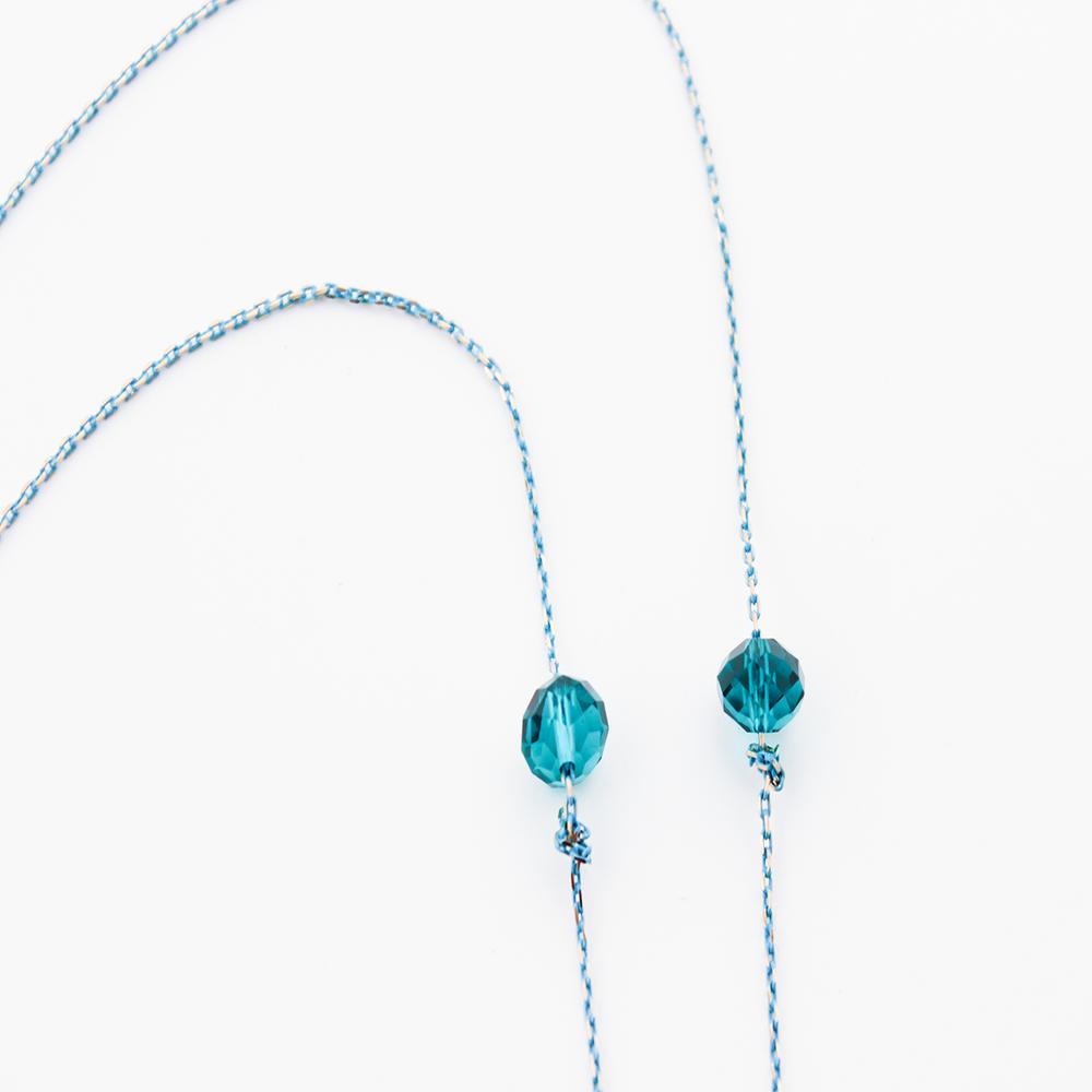 Image of AQUA BLU Earpiece Holder Necklace