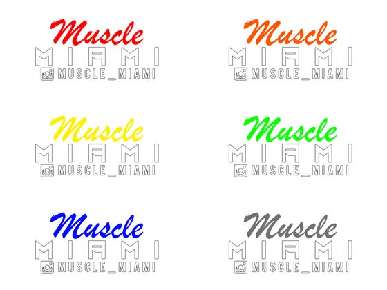 Image of Muscle Miami Sticker (exclusive)