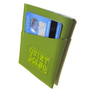 Image of Camera ) Mini Card Wallet ) Green