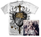 Image of Heart T-Shirt (White) + Pharmakos CD