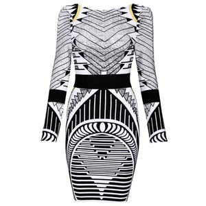 """Image of """"Carrie"""" Aztec Tribal Bandage Bodycon Pencil Dress"""