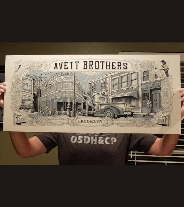 Image of The Avett Brothers Brooklyn 2014-Variant