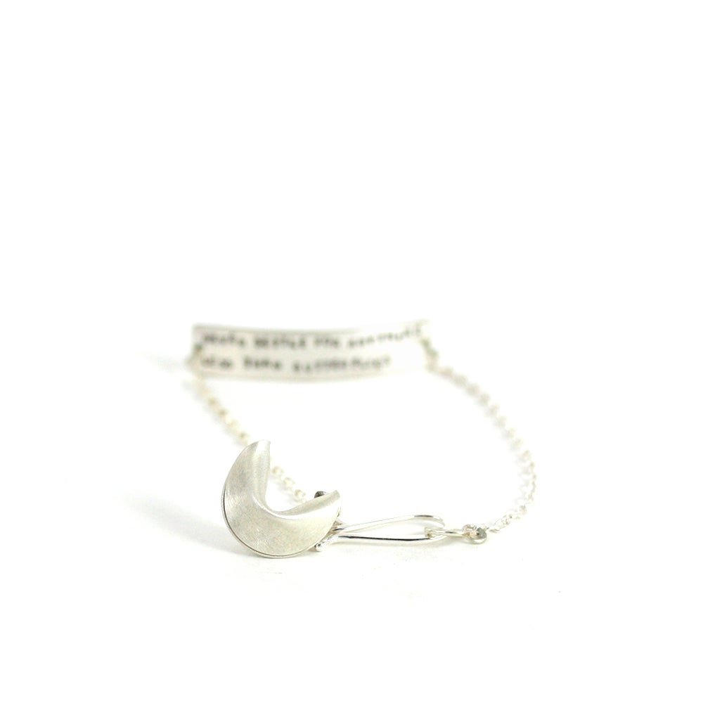 Image of PERSONALIZED FORTUNE - sterling silver fortune cookie bracelet