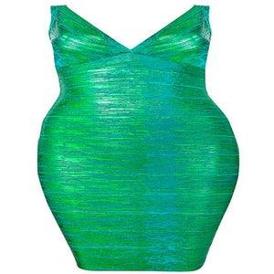 "Image of ""Roxanna"" Emerald Green Bandage Bodycon Pencil Dress"
