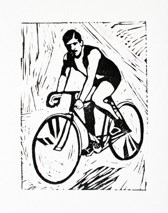 Image of Track cyclist.