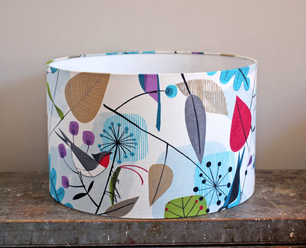 Image of Birds and Bugs Lampshade