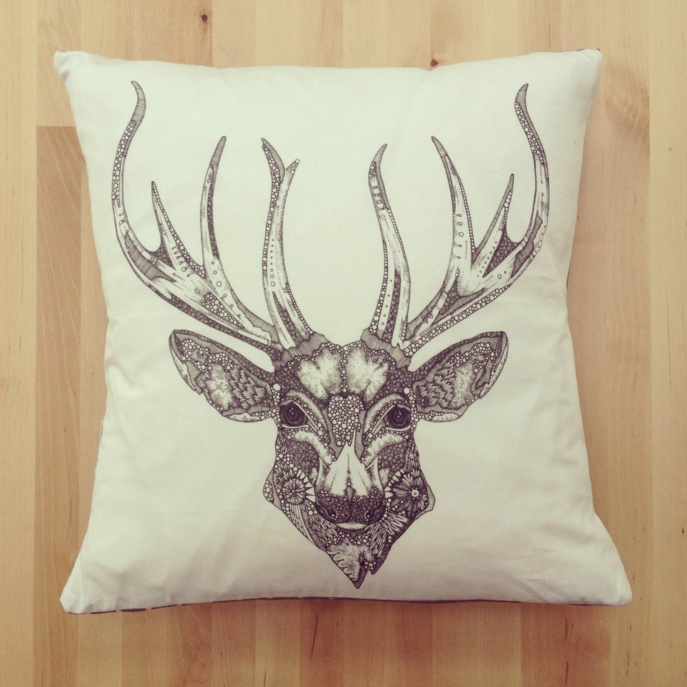 """Image of """"The Great Prince of the Forest"""" cushion"""