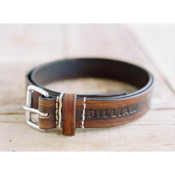 "Image of ""Wood Grain"" Leather Belt"