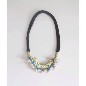 Image of leather layered necklace