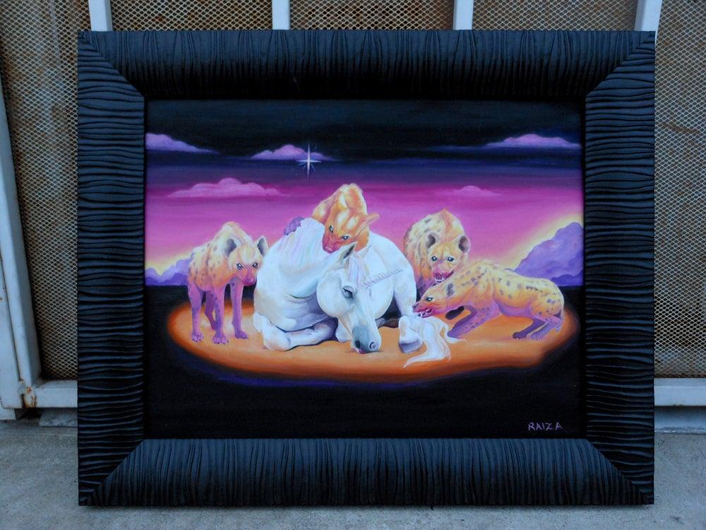 Image of Original Unicorn and Hyena Painting