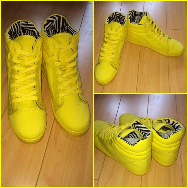 Image of Lemon Yellow High Tops