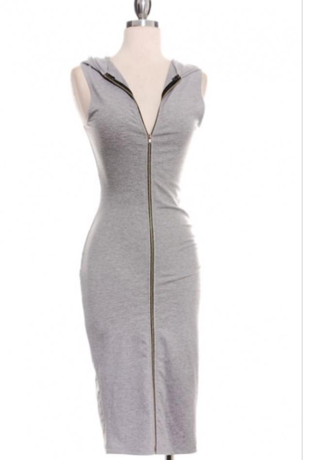 Image of Ladies - Grey Hoody dress