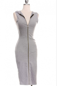 Image of Ladies - Grey Hoody dress