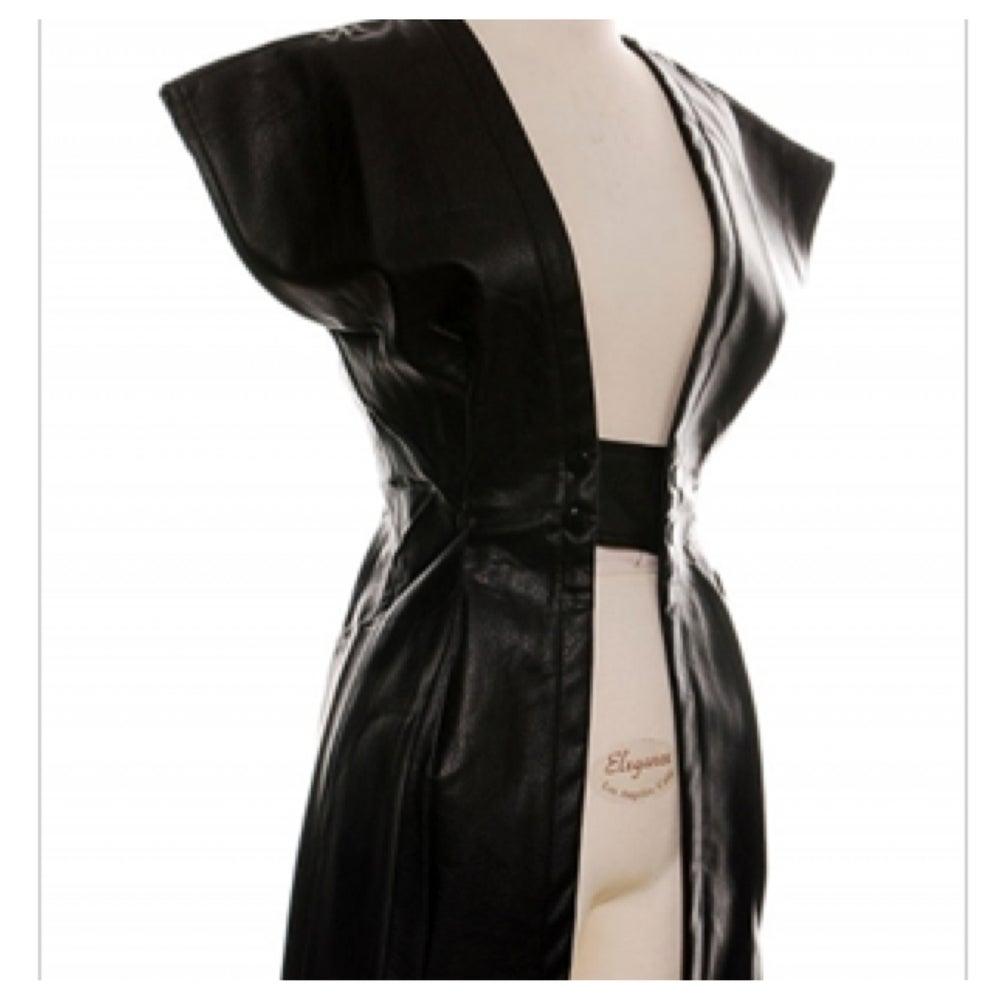 Image of Ladies - Faux Leather Jacket/Vest