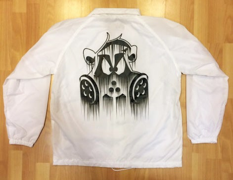 Image of Dripped Coach Jacket | WHITE