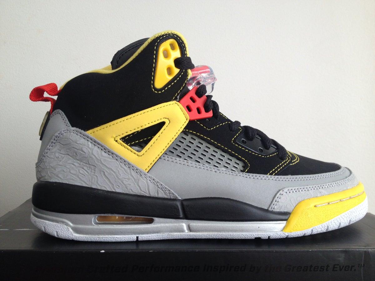 Jordan Spizike Black Grey Yellow GS 2013 / mysneakers