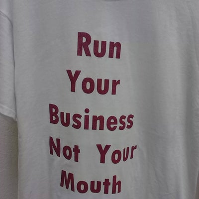 Image of Run Your Business Not Your Mouth Plum
